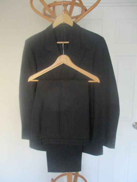mens HORNES NAVY PINSTRIPE WOOL DOUBLE BREASTED SUIT SIZE 40