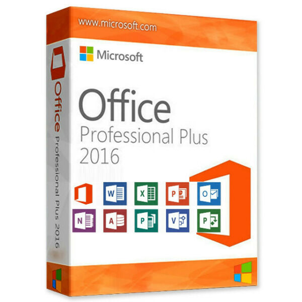 MS Office 2016 Professional Plus Key DE Vollversion 32/64 Bit direkt per E-Mail