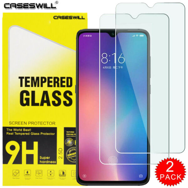For Xiaomi Mi 9 / 9 SE - Premium HD Clear Tempered Glass Screen Protector 2-PACK