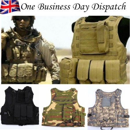 img-Camouflage Tactical Vest Adjustable Military Airsoft Molle Combat Army Waistcoat