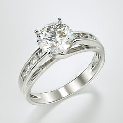 Kyпить Solid 14K White Gold Solitaire Engagement Ring 1.00 Ct. на еВаy.соm