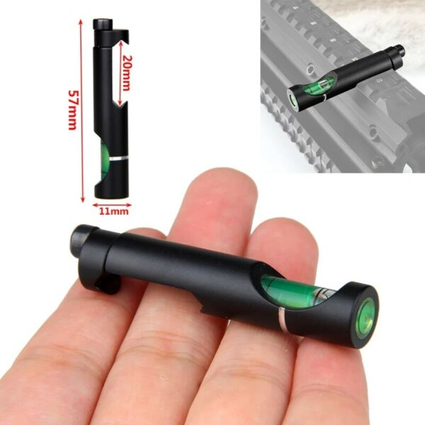 20mm Weaver Rail Alloy Spirit Level, Picatinny Scope, Airsoft, Pellet, Bubble