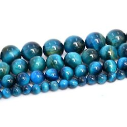 Kyпить Natural Blue Green Tiger Eye Beads Grade AAA Round Loose Beads 4/6/8/10MM на еВаy.соm