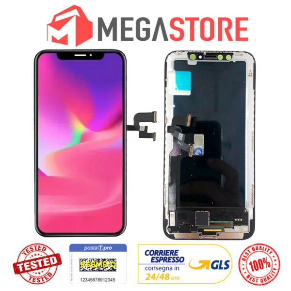 TOUCH SCREEN LCD DISPLAY APPLE IPHONE XS 10 VETRO FRAME OLED SCHERMO RICAMBIO XS