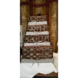 Hobby Lobby Stack-able Woven Baskets with   (4 ea)