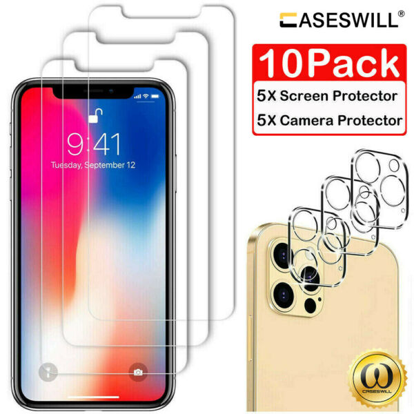 For iPhone 11 Pro X XR XS Max 8 7 6S 6 Plus HD Tempered Glass Screen Protector