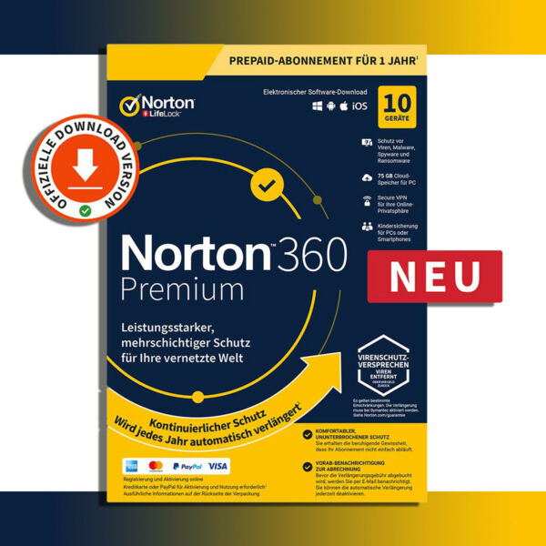 Norton 360 - alle Versionen - Download