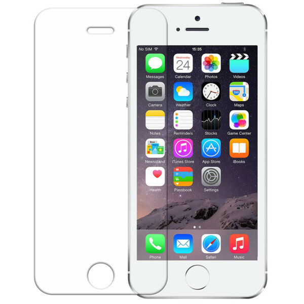 Apple iPhone 5 Tempered Crystal Clear Tempered Glass Screen Protector