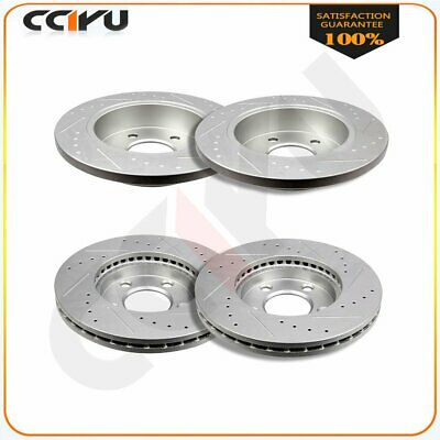 Fits Ford Mustang 1994- 2004 Front + Rear Drilled And Slotted Brake Discs Rotors