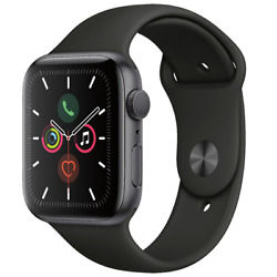 Kyпить Apple Watch Series 5 44mm Space Gray Aluminum Black Band GPS MWVF2LL/A на еВаy.соm