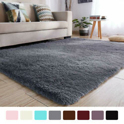 Kyпить Soft Fluffy Rugs Anti-Skid Shaggy Area Rug Dining Room Home Bedroom Floor Mat на еВаy.соm