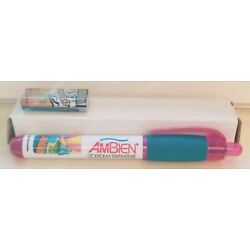 Kyпить New VERY RARE Hot Pink AMBIEN Light PEN Drug Rep Pharmaceutical Collectible  на еВаy.соm