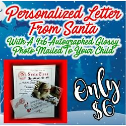 Kyпить Personalized Letter & Glossy Autographed Photo Mailed From Santa! FREE SHIPPING на еВаy.соm