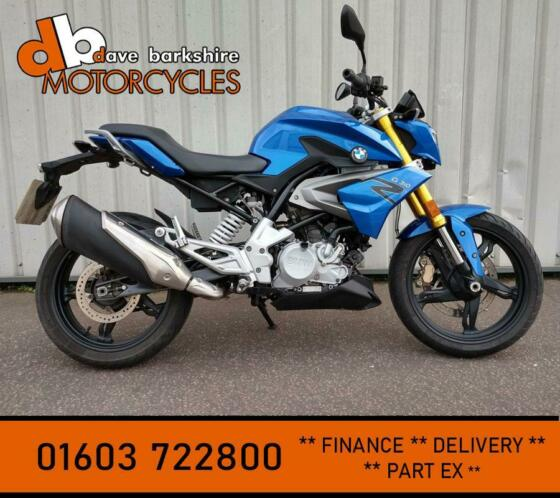 BMW G 310 R 2017 BLUE ** ONE OWNER LOW MILES **