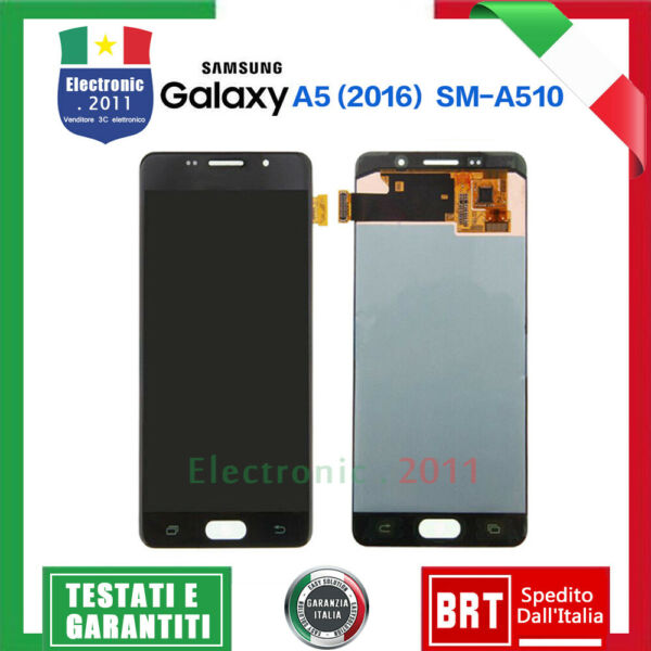 DISPLAY LCD+TOUCH SCREEN PER Samsung Galaxy A5 2016 SM-A510F A510 VETRO SCHERMO