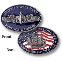 U.S. Navy ~ Enlisted Surface Warfare Specialist ~ Challenge Coin ~ Enlisted