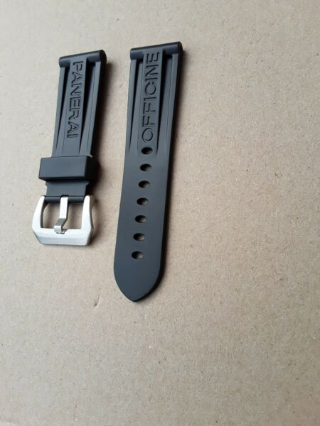 PANERAI BLACK RUBBER WATCH STRAP 24mm New Durable Quality REPLACEMENT