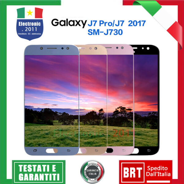 PER SAMSUNG GALAXY J7 2017 J730 J730F/DS DISPLAY LCD TOUCH SCREEN SCHERMO VETRO