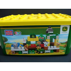 Kyпить NEW MEGA BLOKS First Builders John DEERE Big Barnyard 100p Set Tub Tractor 80829 на еВаy.соm