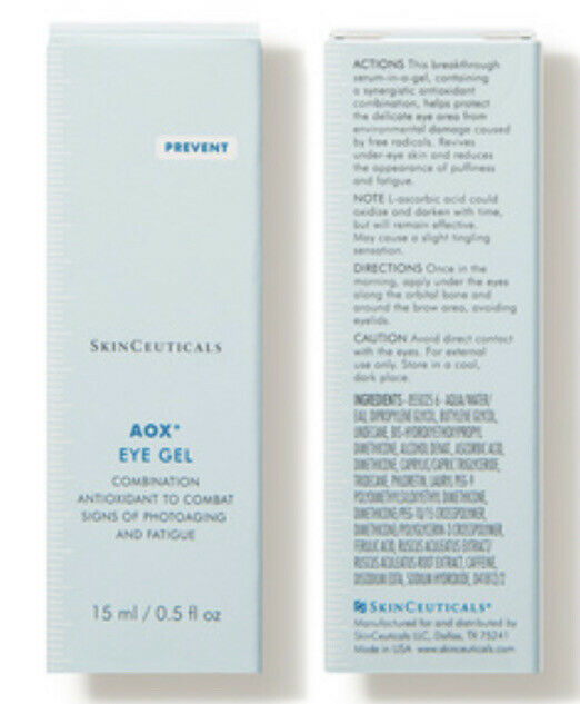 Skinceuticals Aox + Eye Gel 0.5oz / 15ml, In Box