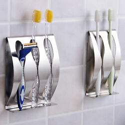 Kyпить USA Stainless Steel Toothpaste Dispenser Toothbrush Holder Set Wall Mount Stand на еВаy.соm