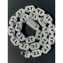 Kyпить Solid 925 Sterling Silver Baguette Gucci Link Chain Iced 15mm Thick Flooded Out на еВаy.соm