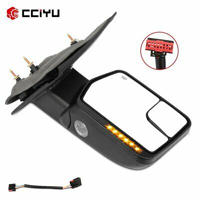 Power Heated Puddle Signal Tow Mirror Black Passenger Side For 2004-14 Ford F150