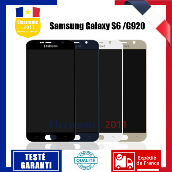 Pour Samsung Galaxy S6 SM-G920F Ecran LCD Vitre Tactile Complet Display