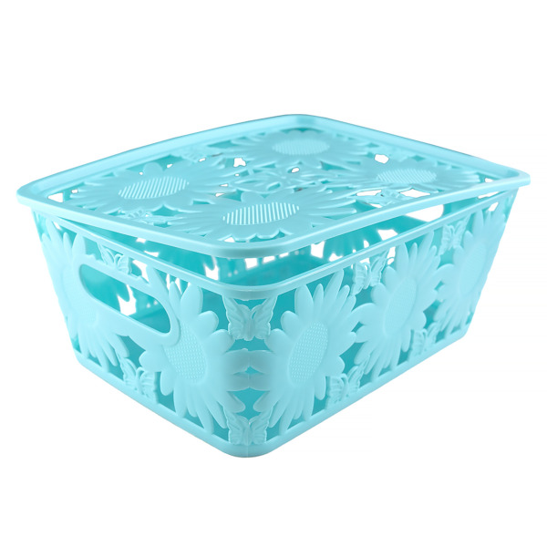 Openwork Storage box 24x18x10cm with lid (5069299 (2)