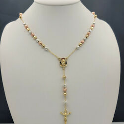 Kyпить Gold Plated Rosary Necklace, Rosario Virgen de Guadalupe Oro Laminado. 26 in на еВаy.соm