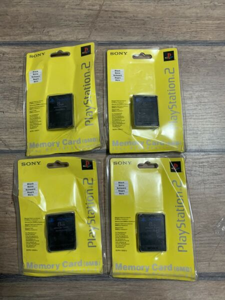 PS2 MEMORY CARD SONY ORIGINALE NUOVA SCATOLA ROVINATA