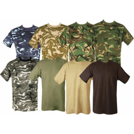 img-BRITISH WOODLAND CAMOUFLAGE TSHIRT CREW NECK ARMY MILITARY US AIR FORCE COMBAT