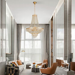 Kyпить FRENCH EMPIRE CRYSTAL CHANDELIER LIGHTING FIXTURE PENDANT CEILING LAMP GOLD NEW на еВаy.соm