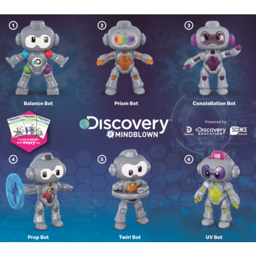 McDonald's 2020 Happy Meal Toys - Discovery #Mindblown Robots
