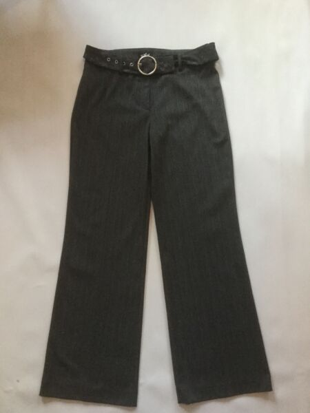 Per Una Ladies M&S Grey Trousers Size 10 Regular