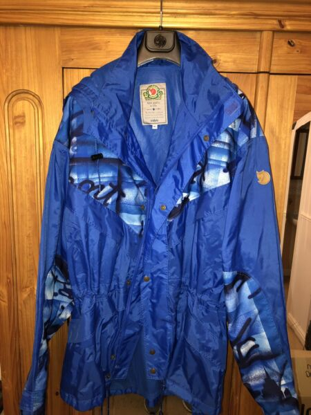 Fjallraven Mens Blue Jacket Coat Size XL Sweden Casuals Extra Large Vintage