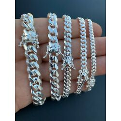 Kyпить Real Miami Cuban Link Bracelet Solid 925 Sterling Silver Box Clasp ITALY 4-10mm на еВаy.соm