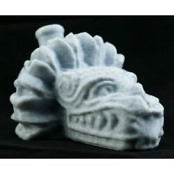 Kyпить  Aztec Quetzalcoatl Death Whistle Marble White Feathered Serpent God MADE IN USA на еВаy.соm