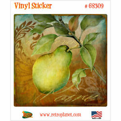 Poire Pear From the Grove French Vinyl Sticker Vintage Style Laptop Decal