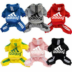Kyпить Adidog Dog Hoodie 4 Legs Jumpsuit Puppy Hoodies Coat Sweatshirt Sports Outfits на еВаy.соm