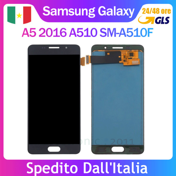 DISPLAY LCD TOUCH SCREEN SAMSUNG GALAXY A5 2016 A510 SM-A510F NERO Schermo Vetro