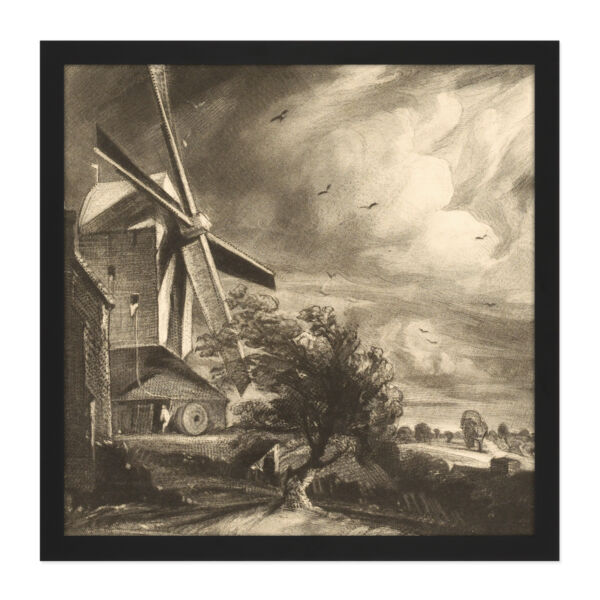 Royaume-UniDavid Lucas Mill Near  1846 Painting Square Framed Mountless Wall Art