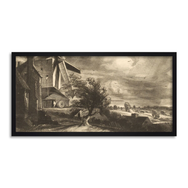 Royaume-UniDavid Lucas Mill Near  1846 Painting Long Framed Wall Art 25X12 In
