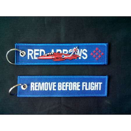 img-Cloth Tag with Red Arrows on one side, RBF on the other