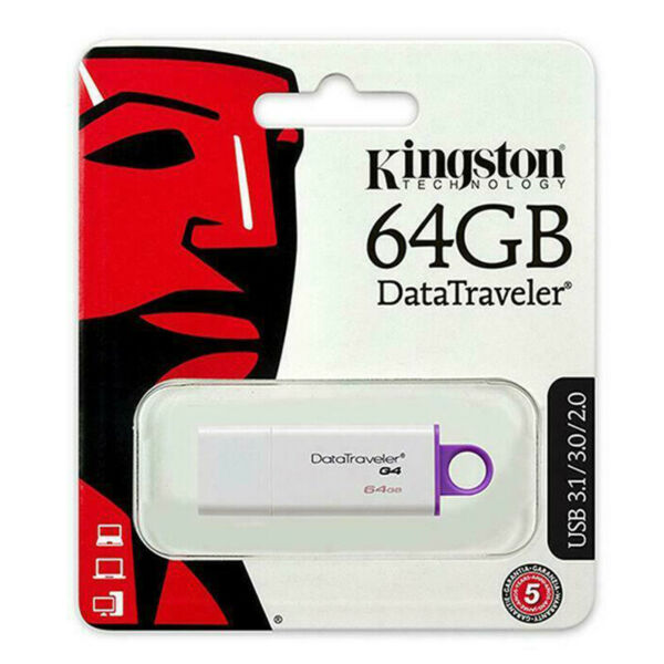 Chiavetta Pennetta USB 64GB kingston DataTraveler 4 DTIG4 USB 3.0 / 2.0 Pendrive