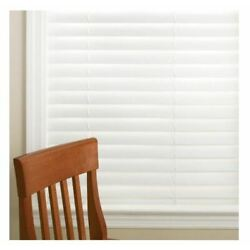 ASSORTED SIZES Home Decorators White Cordless 2 in Faux Wood Blind (PLEASE READ)