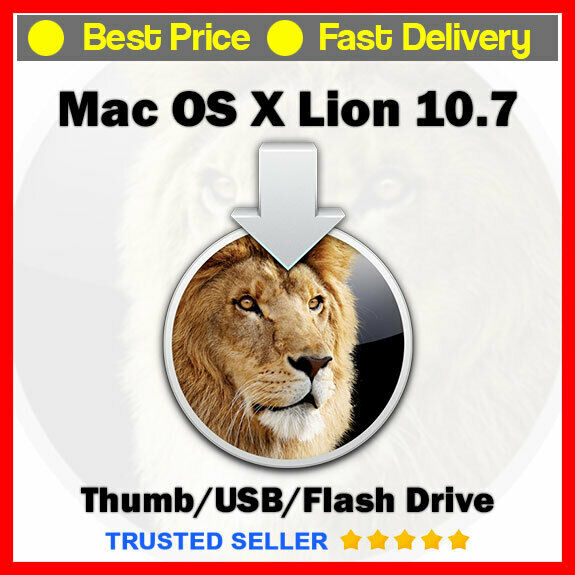Mac OS X 10.7.5 Lion Installer ✅ Bootable Version ✅ Fast Delivery