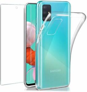 For Samsung Galaxy A51 5G Case Clear Gel Cover & Glass Screen Protector