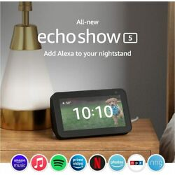 """Kyпить Amazon Echo Show 5"""" smart display with Alexa – stay connected with video calling на еВаy.соm"""