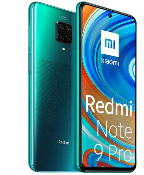 XIAOMI REDMI NOTE 9 PRO TROPICAL GREEN 128 GB ROM 6 GB RAM DISPLAY FULL HD 6.67
